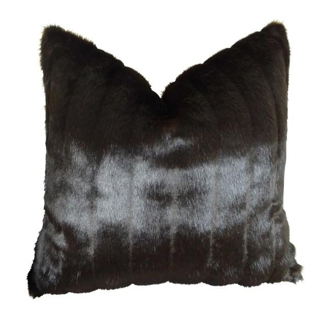 Jourdan Mink Faux Fur Pillow Fill Material: H-allrgnc Polyfill, Size: 16