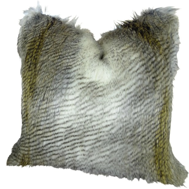 Montero Alaskan Hawk Faux Fur Pillow Fill Material: Cover Only - No Insert, Size: 26