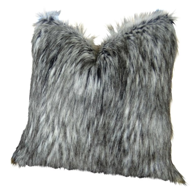Wagaman Siberian Husky Faux Fur Pillow Fill Material: Cover Only - No Insert, Size: 16