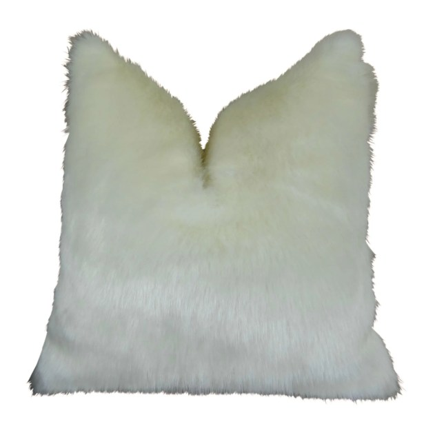 Jourdan Mink Faux Fur Pillow Fill Material: Cover Only - No Insert, Size: 22