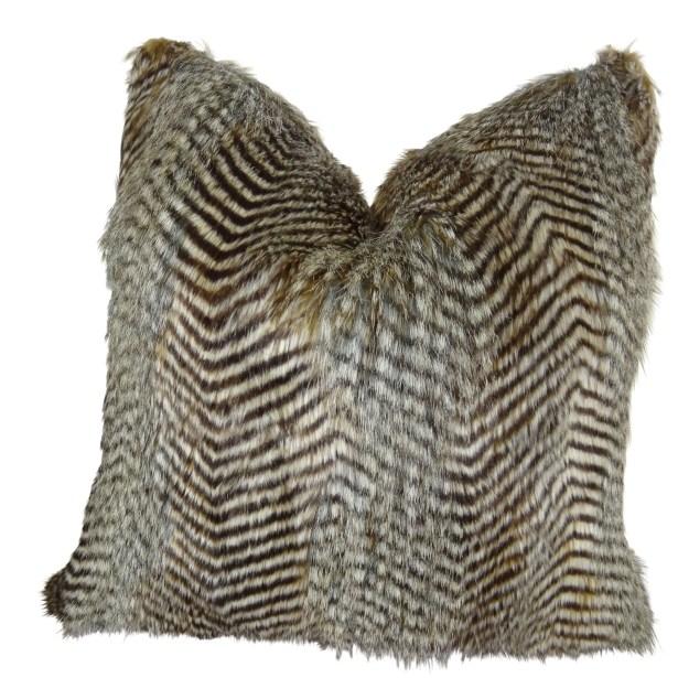 Montiel Faux Fur Pillow Size: 16