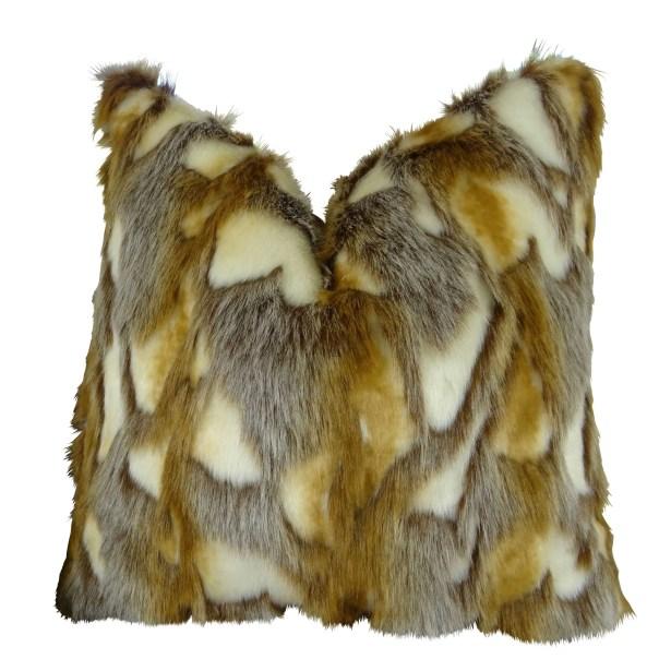 Wadlington Luxury Rabbit Faux Fur Pillow Fill Material: H-allrgnc Polyfill, Size: 20