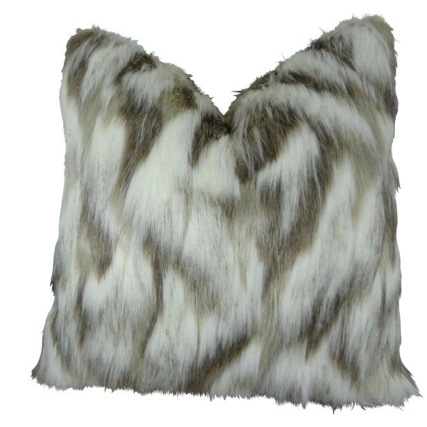Wafer Luxury Fox Faux Fur Pillow Fill Material: 95/5 Feather/Down, Size: 20