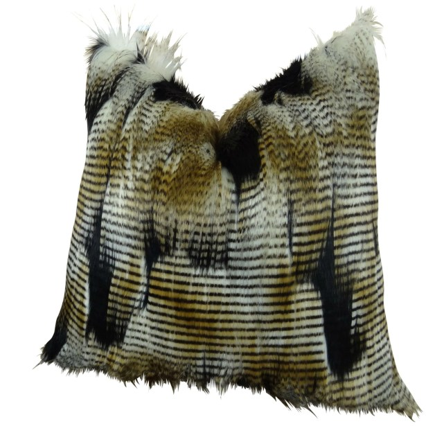 Monterey Faux Fur Pillow Fill Material: H-allrgnc Polyfill, Size: 20