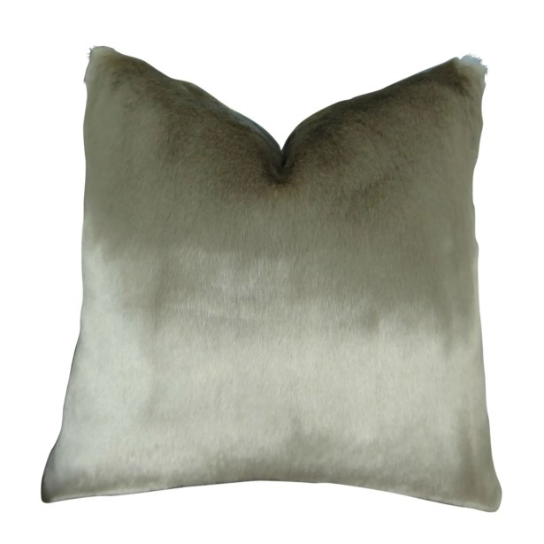 Juarez Luxury Tissavel Gunmetal Faux Fur Pillow Fill Material: Cover Only - No Insert, Size: 12