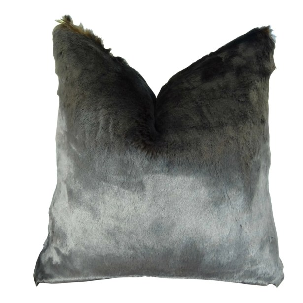 Juarez Luxury Tissavel Amber Faux Fur Pillow Size: 20