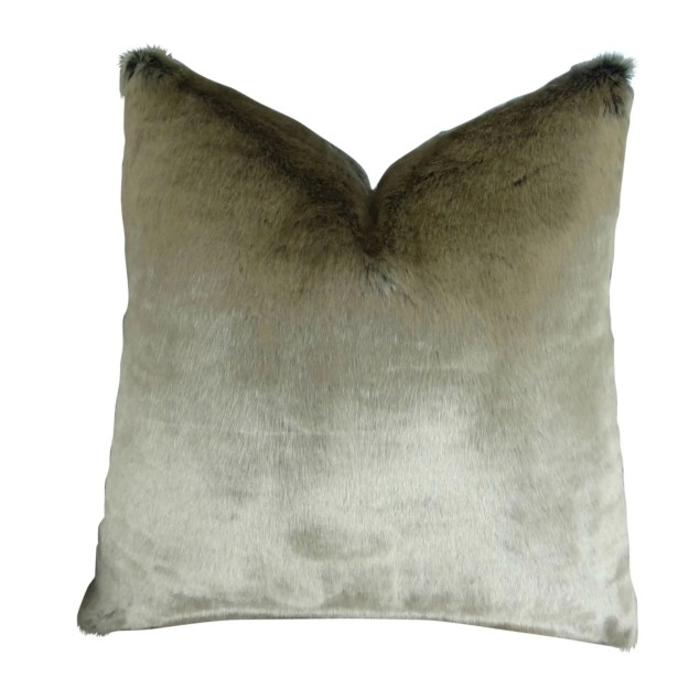 Juarez Luxury Tissavel 2 Tone Faux Fur Pillow Fill Material: Cover Only - No Insert, Size: 12