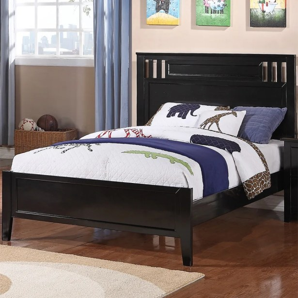 Pangburn Appealing Panel Bed Color: Brown, Size: Twin