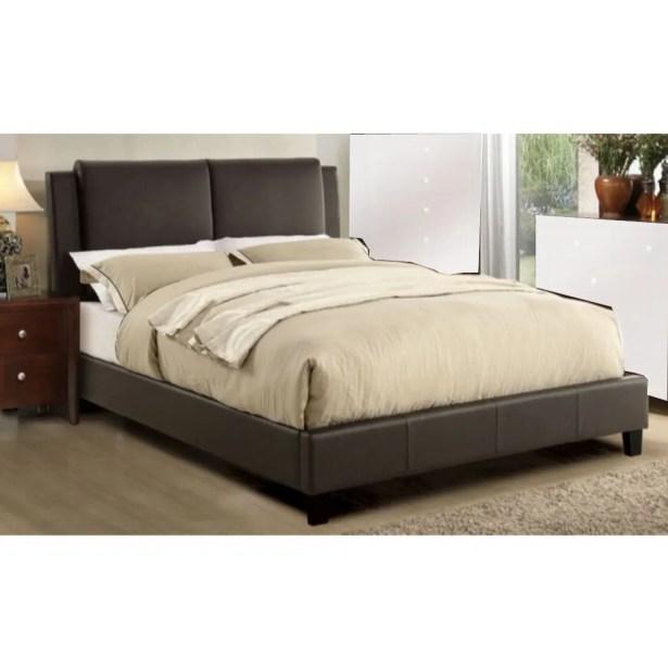 Kist Wooden Upholstered Panel Bed Color: Brown, Size: Full