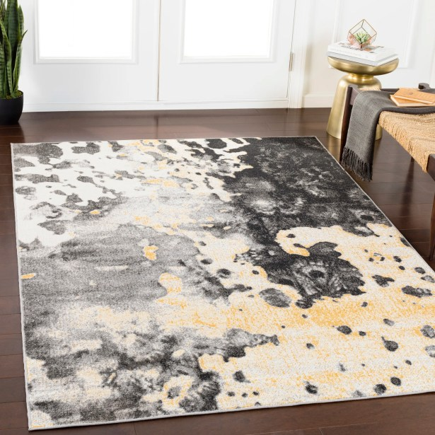 Ramm Abstract Charcoal/Gray Area Rug Rug Size: Rectangle 7'10