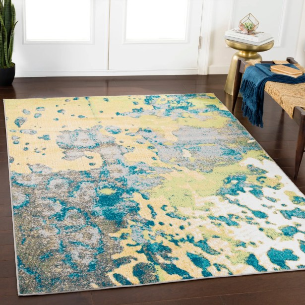 Ramm Abstract Lime/Grass Green Area Rug Rug Size: Rectangle 7'10