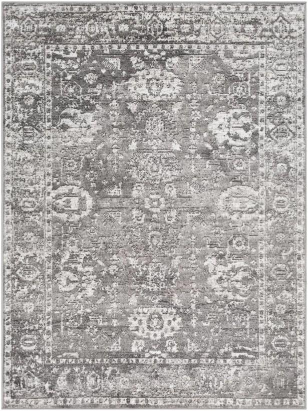 Ranck Distressed Vintage Light Gray/Gray Area Rug Rug Size: Rectangle 5'3