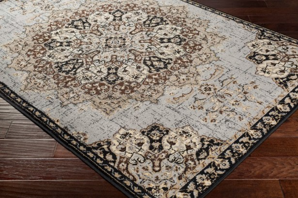 Gerena Black/Taupe Area Rug Rug Size: Rectangle 6'7