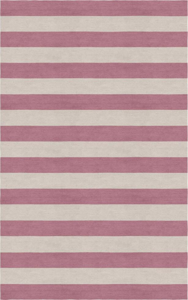 Mcleod Stripe Hand-Woven Wool Silver/Purple Area Rug Rug Size: 8' x 10'