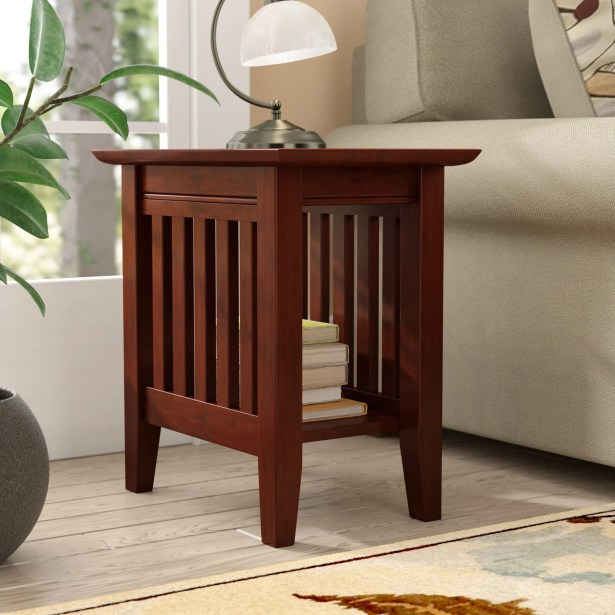 Caples End Table Color: Walnut