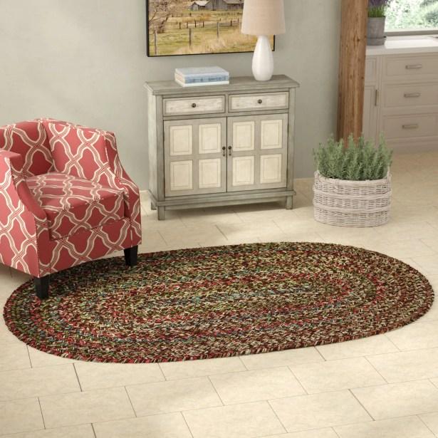 Tartaglia Brown Indoor/Outdoor Area Rug Rug Size: Oval 5' x 8'