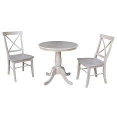 Dining Table Sets Qunitero 3 Piece Solid Wood Dining Set
