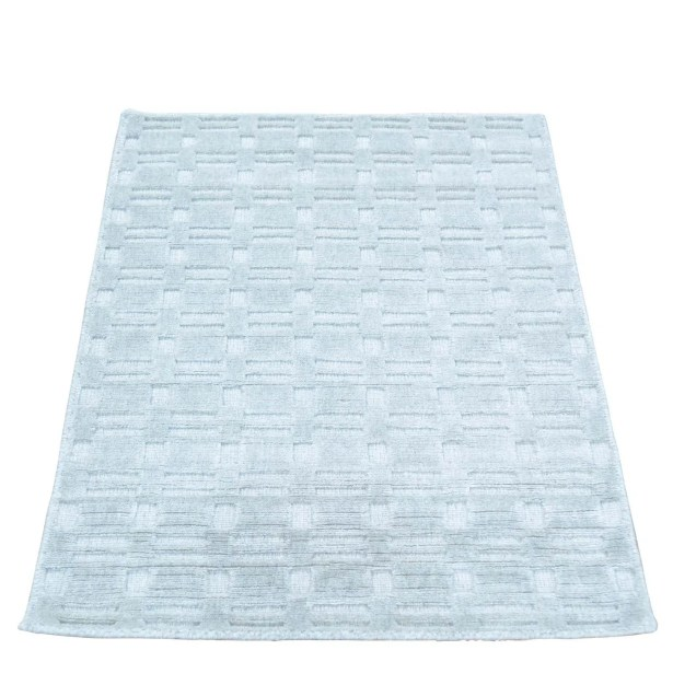 Tone on Tone Hand-Knotted Gray Area Rug