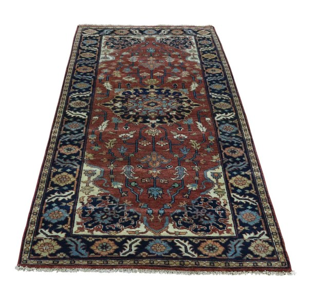 One-of-a-Kind Salvato Re-creation Hand-Knotted Red Area Rug
