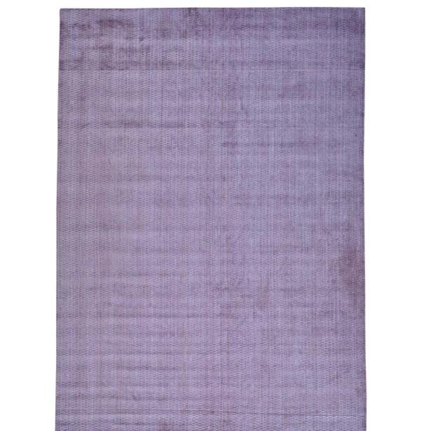 Tone on Tone Hand-Knotted Purple Area Rug