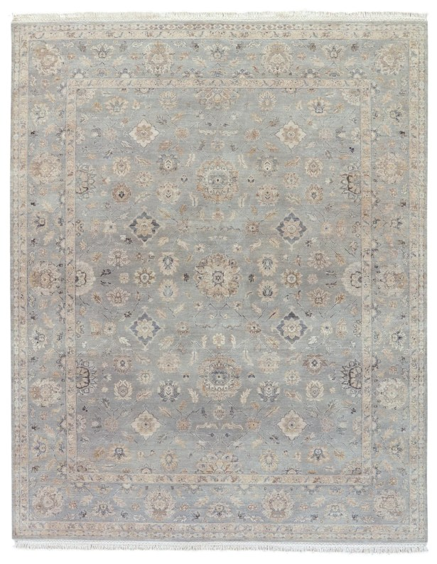 Portchester Medallion Hand-Knotted Wool Tan Area Rug Rug Size: Rectangle 9' x 12'