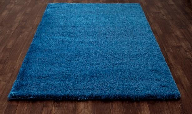 Hickey Plush Pile Shag Bahama Blue Area Rug Rug Size: Rectangle 5'3