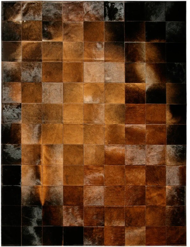One-of-a-Kind Bellomy Patchwork Hand-Woven Cowhide Chocolate/Black Area Rug