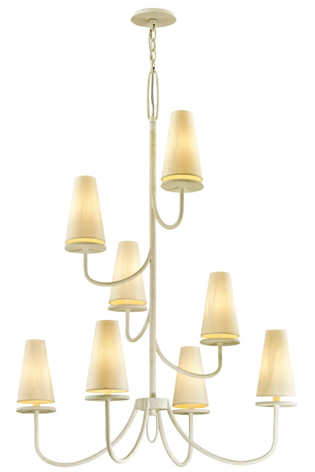 Oatman 8-Light Shaded Chandelier Finish: White