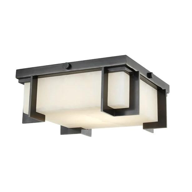 Tameka 1-Light LED Flush Mount Fixture Finish: Old Bronze, Size: 4.25