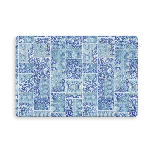 Houston Patchwork Indoor/Outdoor Doormat Color: Blue/Purple, Mat Size: Rectangle 2'6