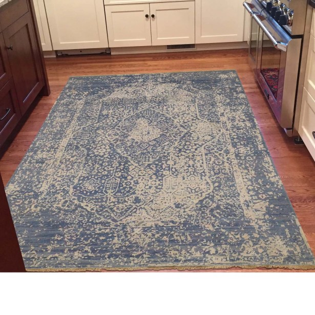 One-of-a-Kind Orobanche Broken Hand-Knotted Silk Area Rug