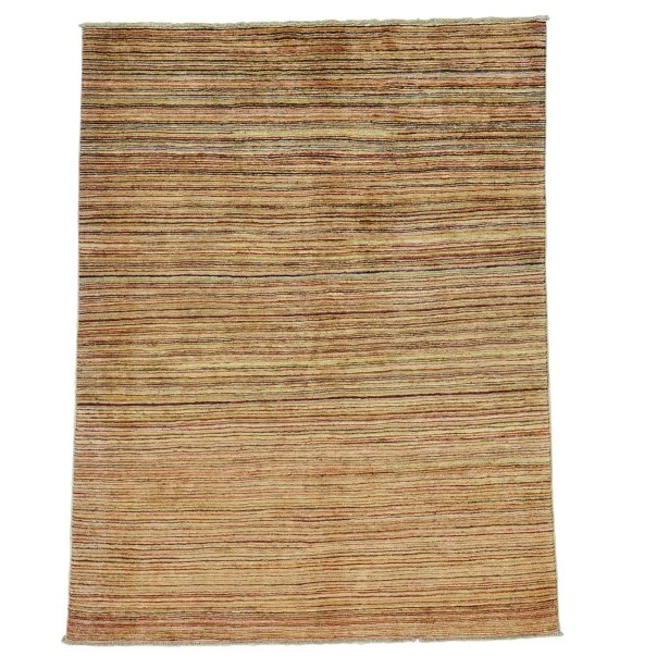 One-of-a-Kind Rothermel Modern Burgundy Transitional Striped Hand-Knotted Red Area Rug