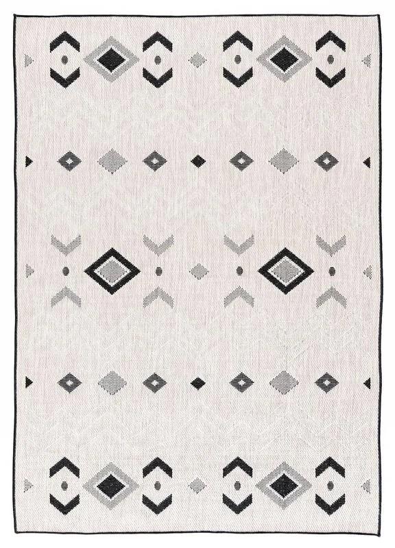 Tseng Reversible Gray/Black Indoor/Outdoor Area Rug Rug Size: Rectangle 7'10