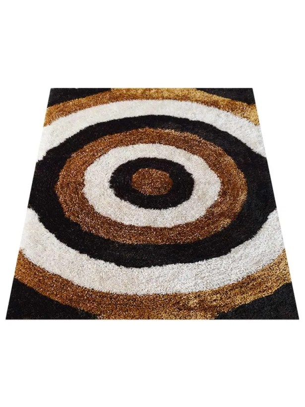 Ry Hand-Tufted Brown/White Area Rug Rug Size: Rectangle 8' x 10'