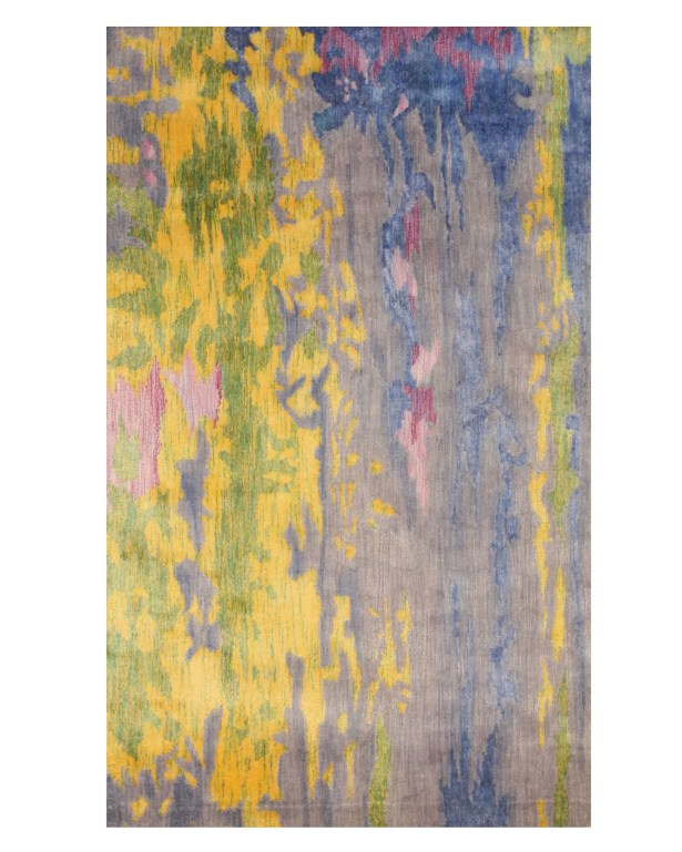 Fiorino Contemporary Abstract Hand-Tufted Blue/Yellow Area Rug Rug Size: Rectangle 8'9