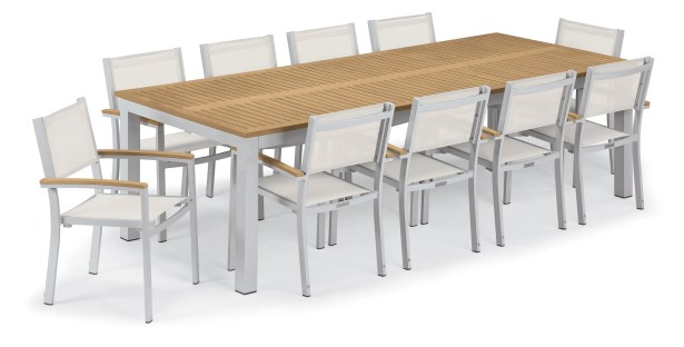 Maclin 11 Piece Dining Set Accessory Color: Natural Sling, Color: Natural