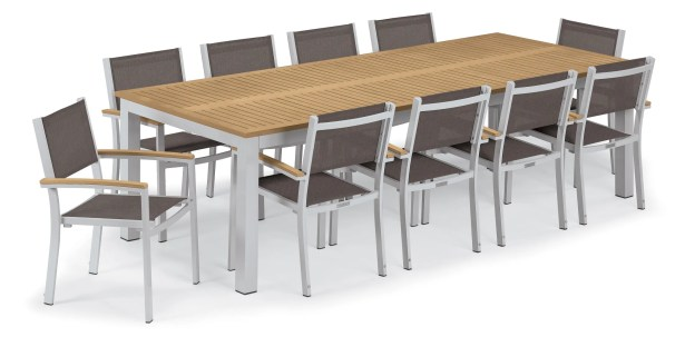 Maclin 11 Piece Dining Set Accessory Color: Cocoa Sling, Color: Natural