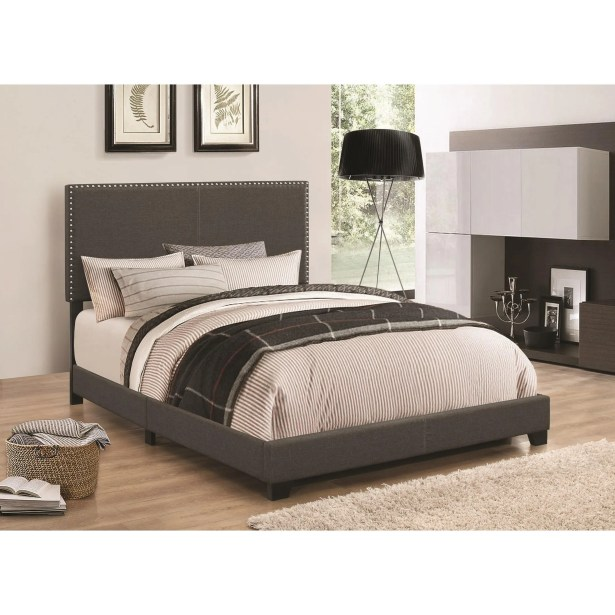 Kenworthy Upholstered Sleigh Bed Color: Espresso, Size: King