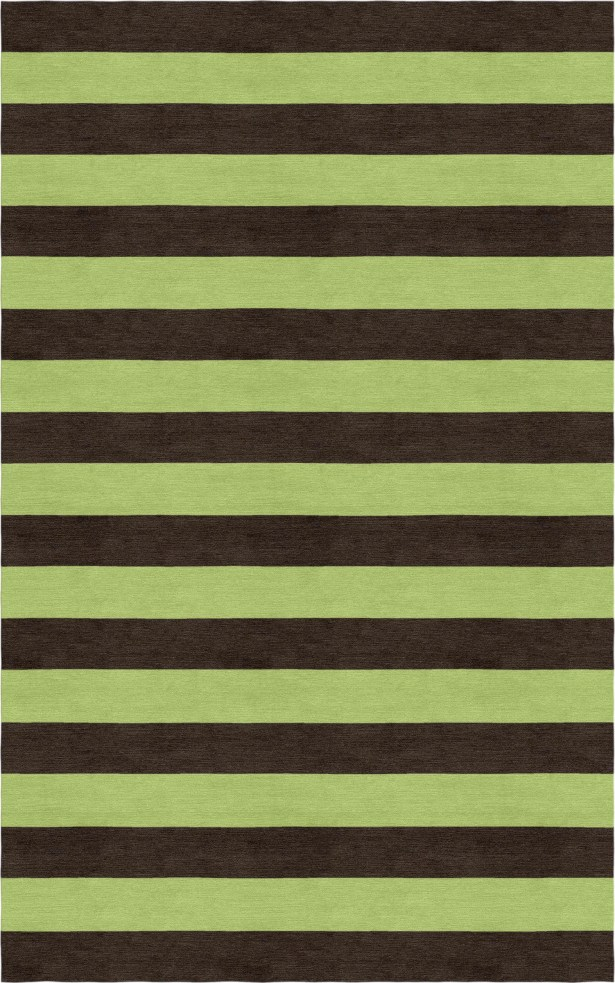 Suggs Stripe Hand-Tufted Wool Brown/Green Area Rug Rug Size: Rectangle 9' x 12'