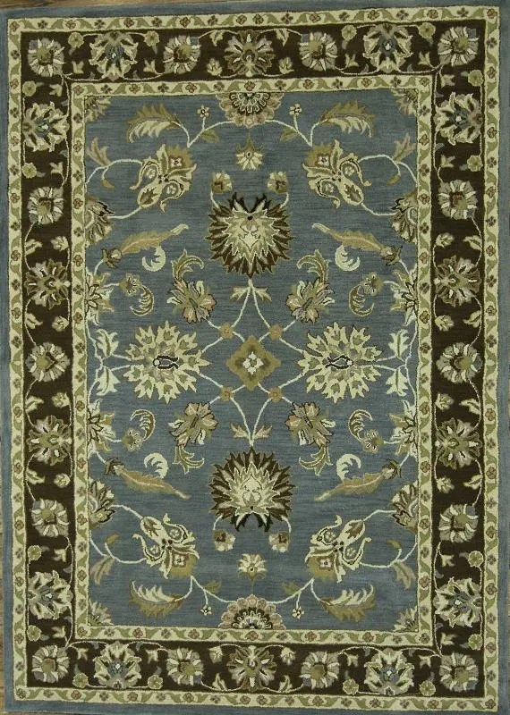 Bovill Agra Oriental Hand-Tufted Wool Green/Beige Area Rug