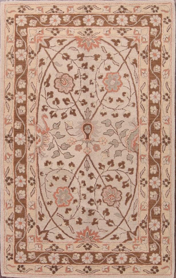 Sharron Agra Oriental Classical Hand-Tufted Wool Beige/Brown Area Rug