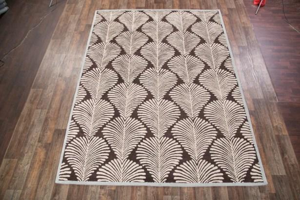 Calderon Oushak Oriental Hand-Tufted Wool Brown Area Rug