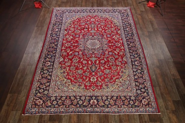 One-of-a-Kind Forman Traditional Najafabad Isfahan Persian Hand-Knotted 9'4