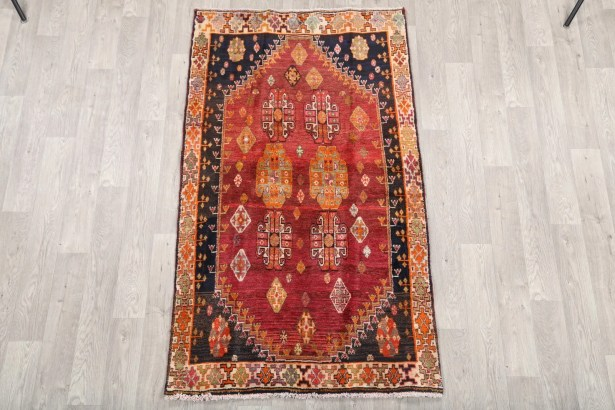 One-of-a-Kind Kashkoli Shiraz Persian Hand-Knotted 3'10