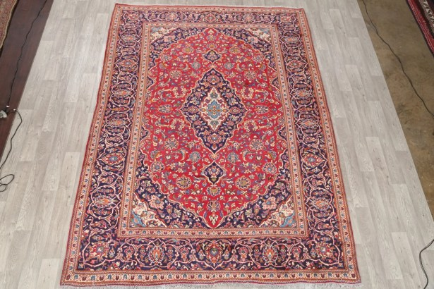 One-of-a-Kind Kashan Genuine Persian Hand-Knotted 8'1