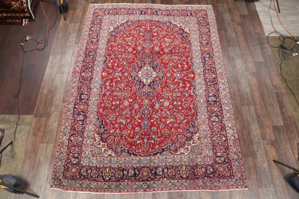 One-of-a-Kind Kashan Persian Hand-Knotted 8'6