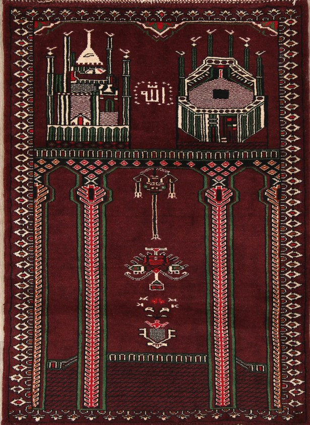 One-of-a-Kind Dumont Traditional Balouch Persian Hand-Knotted 2'9