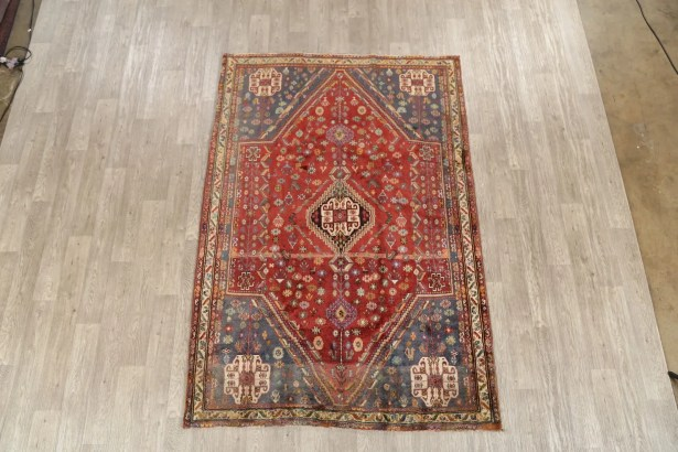 One-of-a-Kind Fredrickson Abadeh Shiraz Persian Hand-Knotted 5'6