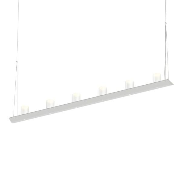 12-Light  LED  Pendant Finish: Bright Satin Aluminum