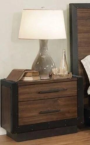 Berghoff 2 Drawer Nightstand
